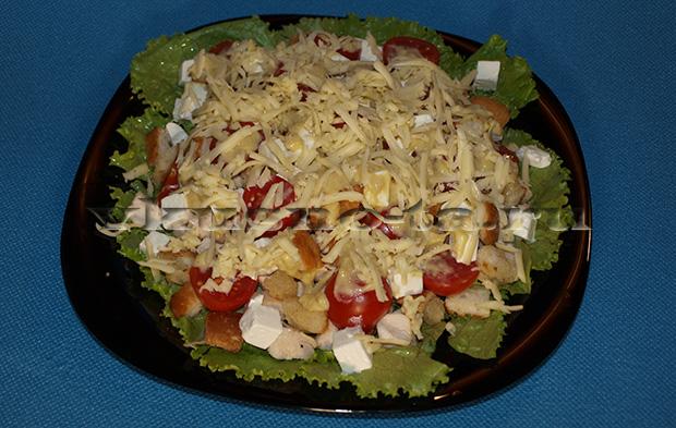 Сэндвич с салатом Цезарь, пошаговый рецепт с фото
