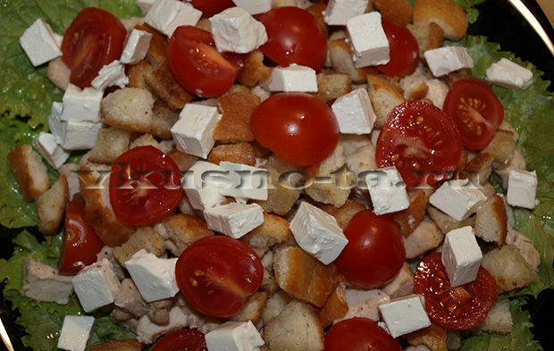 Салат Цезарь с разными добавками, пошаговый рецепт с фото