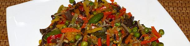 Тушеные овощи из пакета